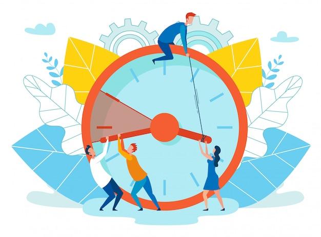 Vector illustratie verlenging deadline cartoon. Premium Vector