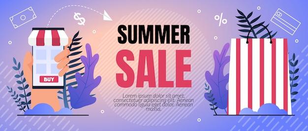 Vector illustratie zomer verkoop procent belettering. Gratis Vector
