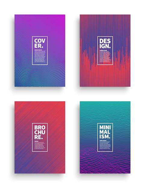 Vector instellen verschillende stijl brochure flyer sjablonen voor het ontwerp van de broadsheet Premium Vector