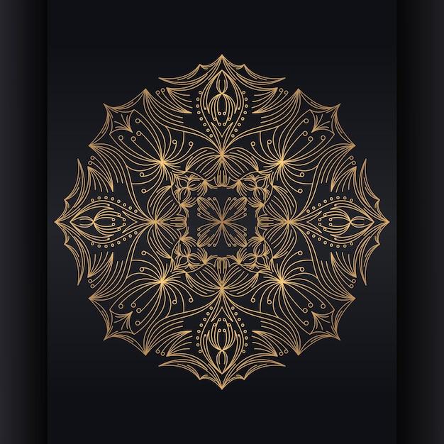 Vector islamitische achtergrond met mandala Premium Vector