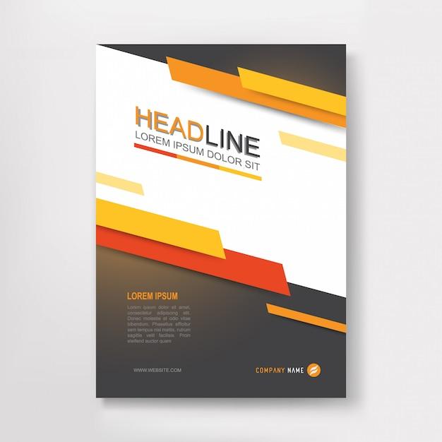 Vector jaarverslag zakelijke brochure, flyers ontwerp Premium Vector
