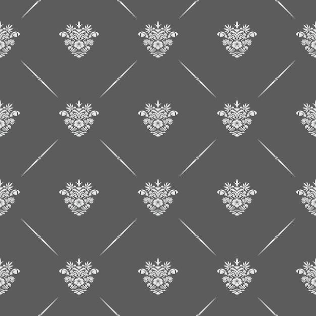 Vector klassiek bloemen naadloos patroon voor achtergronden en uitnodigingen Gratis Vector