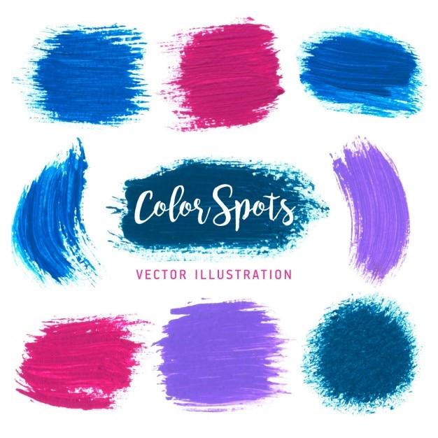 Vector kleurrijke heldere plonsen element voor uw ontwerpen projecten Gratis Vector