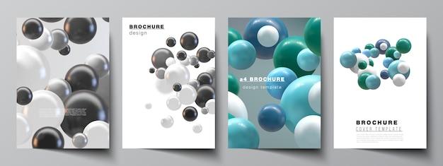 Vector lay-out van a4-omslagmodellen sjablonen voor brochure Premium Vector