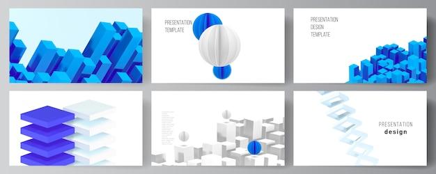 Vector lay-out van presentatie dia's ontwerpsjablonen, sjabloon voor presentatiebrochure Premium Vector