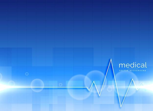 Vector medische achtergrond met heartbeatlijn Gratis Vector