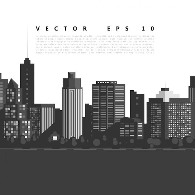Vector moderne stad. Gratis Vector