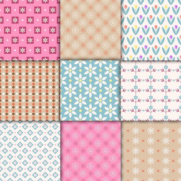 Vector mooie pastel naadloze patronen. eindeloze textuur voor behang Gratis Vector