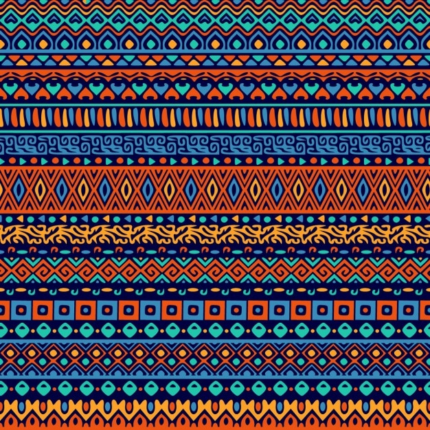 Vector naadloze tribal stijl patroon Gratis Vector