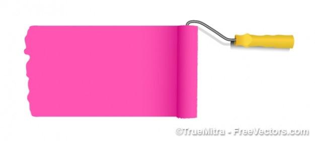 Vector roze verf roller vector gratis download - Hoe roze verf ...