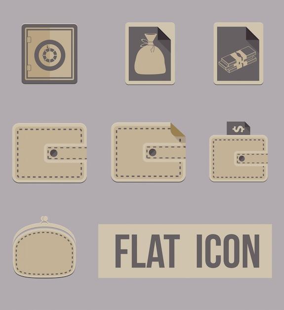 Vector set iconen manieren van geld. vlak Gratis Vector