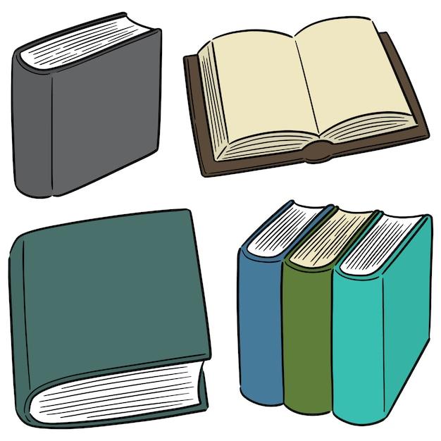 Vector set van boek Premium Vector