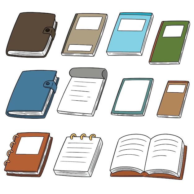Vector set van notebooks Premium Vector