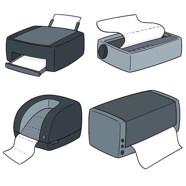 Vector set van printers Premium Vector