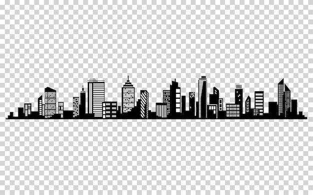 Vector stadsbeeld. cityscape vector ontwerp. Premium Vector