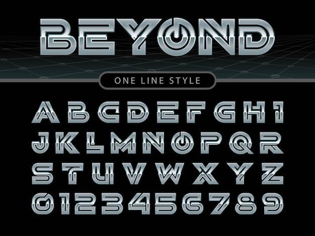 Vector van gestileerde afgeronde lettertype en alfabet Premium Vector