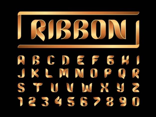 Vector van linten alfabetletters Premium Vector