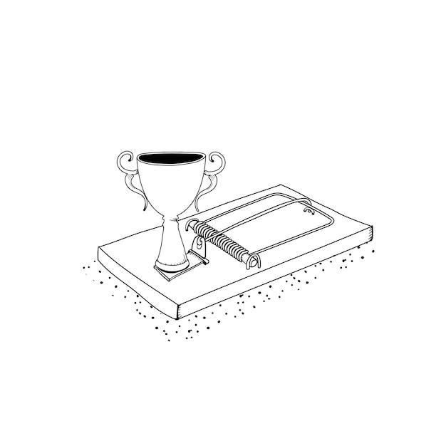 Vector van succesvolle trofeekar Gratis Vector