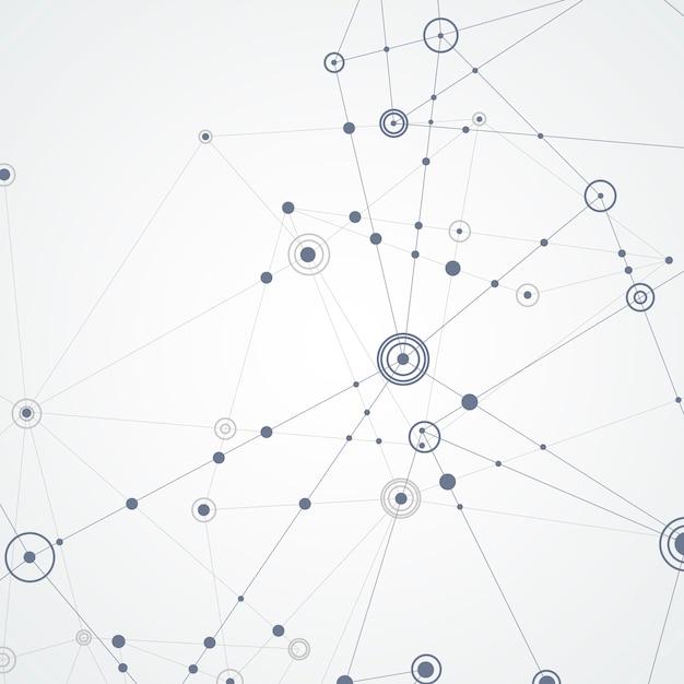 Vector verbind lijnen en punten Premium Vector