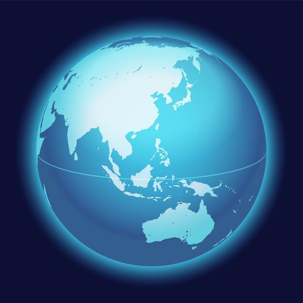 Vector wereldbol kaart Gratis Vector
