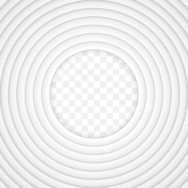 Vector witboek gesneden achtergrond met innerlijke schaduw Premium Vector