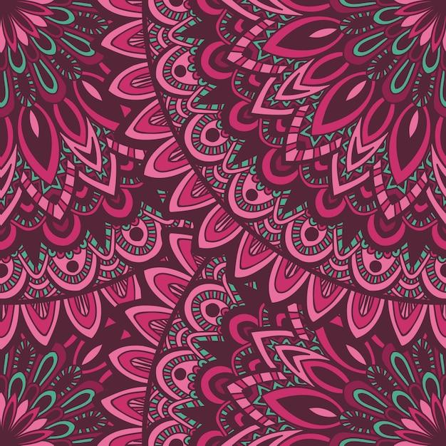 Vectoraard naadloos patroon met abstract ornament. Premium Vector