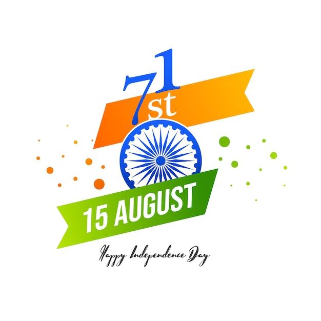 Vectorillustratie van 15 augustus india happy independence day. Premium Vector