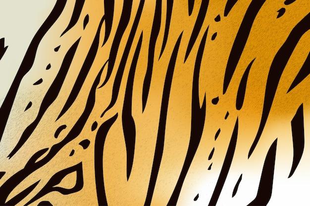 Vectorillustratie van de tijgerpatroon van de bengaalse tijger Premium Vector