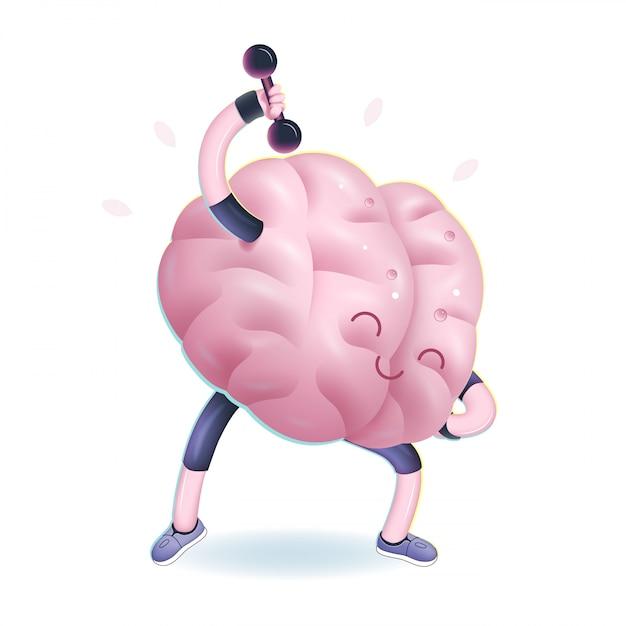 Vectorillustratie van hersenen activiteit Premium Vector