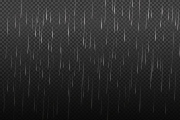 Vectorillustratie van koel één weer met wolk en zware herfst regen. Premium Vector