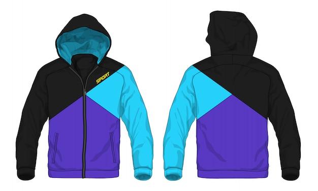 Vectorillustratie van sport hoodie jas. Premium Vector