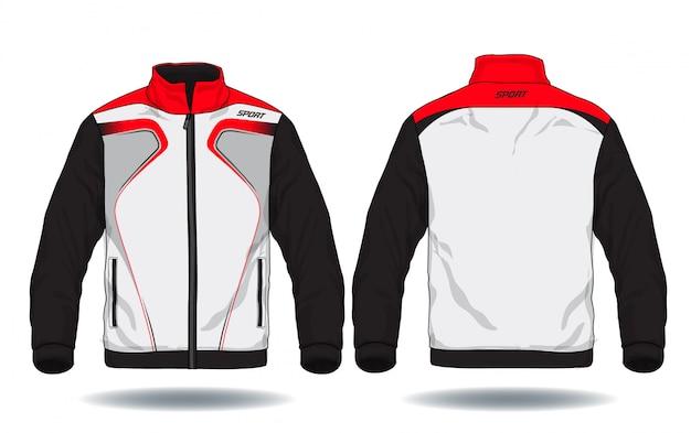 Vectorillustratie van sportjas. Premium Vector