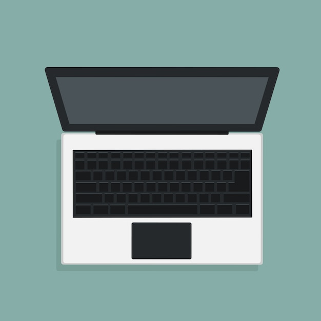 Vectorontwerp van moderne laptop in hoogste mening Premium Vector