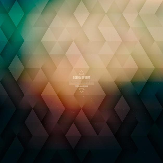 Vectortechnologie abstracte geometrische retro achtergrond Premium Vector