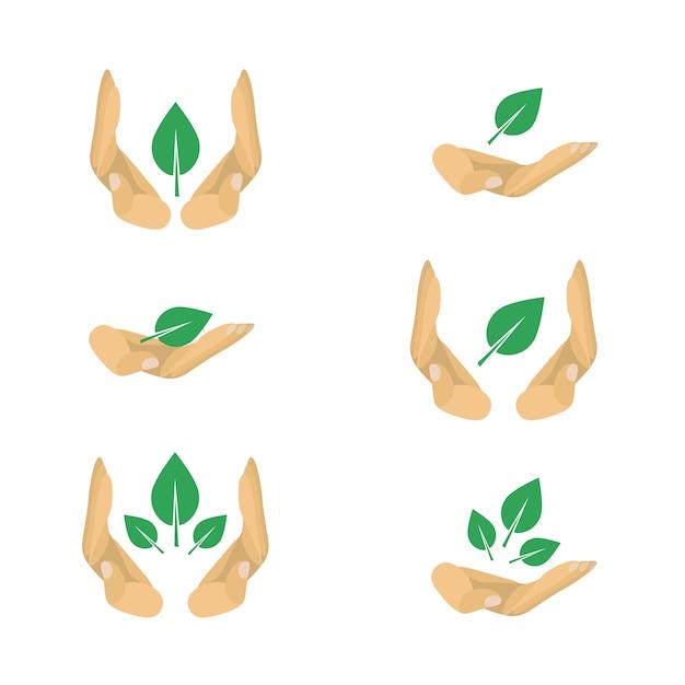 Vectorvarianten van ecologiebeschermingssymbolen voor affiche Premium Vector