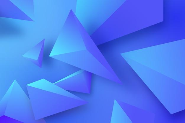 Veelhoekige 3d achtergrond in blauwe tinten Gratis Vector