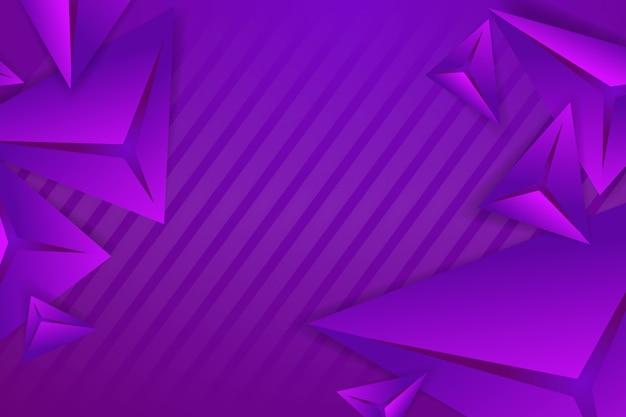 Veelhoekige 3d achtergrond met violette monochome tonen Gratis Vector
