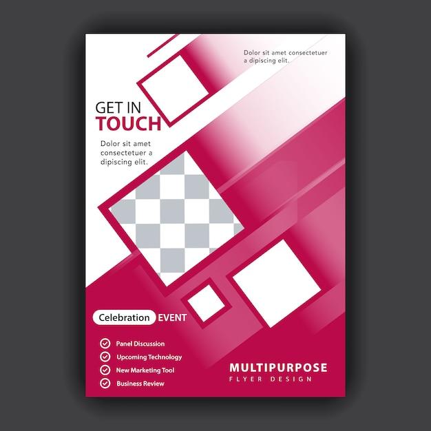 Veelhoekige abstracte flyer Gratis Vector