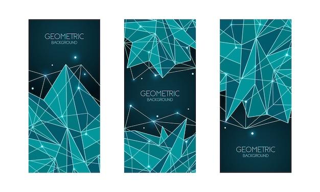 Veelhoekige abstracte futuristische sjabloon, laag poly Premium Vector
