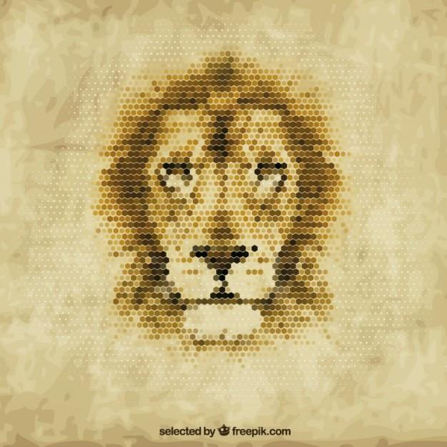 Veelhoekige leeuw Gratis Vector