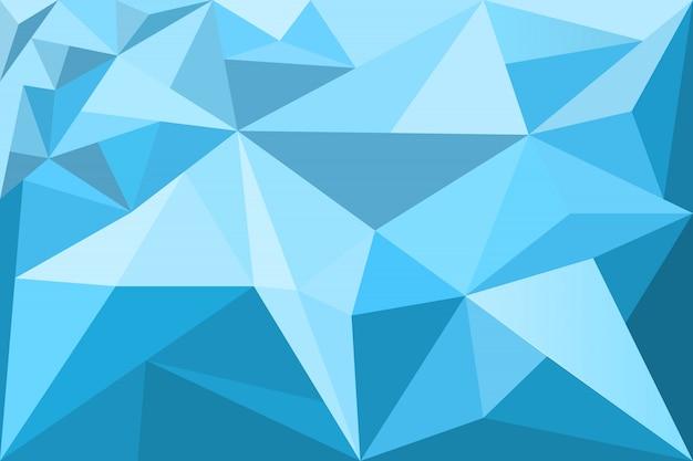 Veelhoekige mozaïekblauwe achtergrond, laag poly Premium Vector