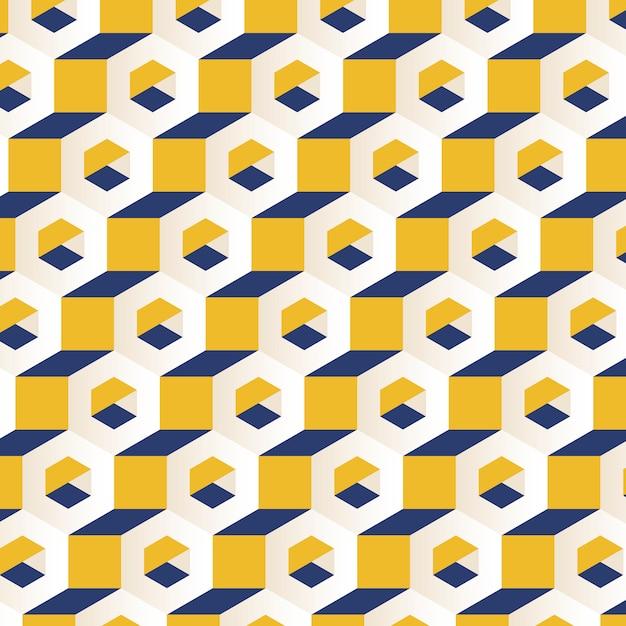 Veelkleurige 3d zeshoekige patroon achtergrond Gratis Vector