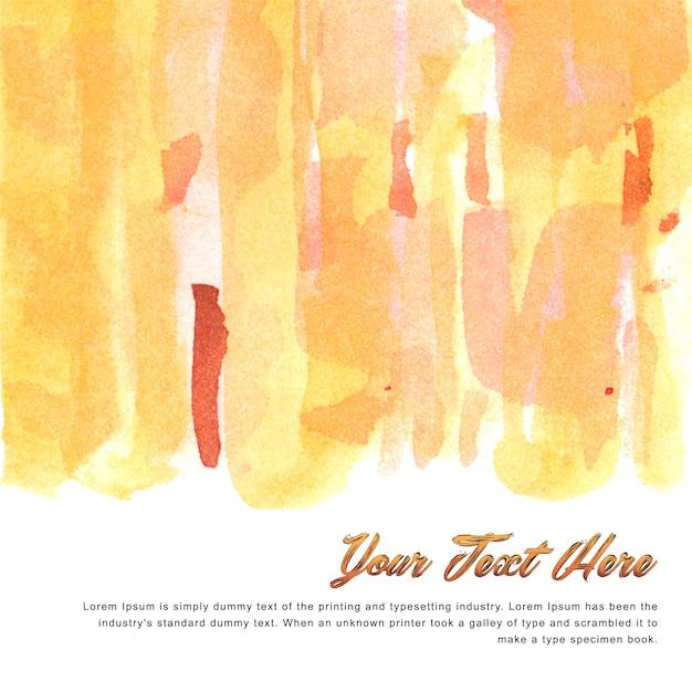 Veelkleurige aquarel achtergrond sjabloon met warme tinten Gratis Vector