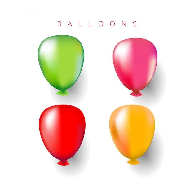 Veelkleurige heliumballonnen. Premium Vector