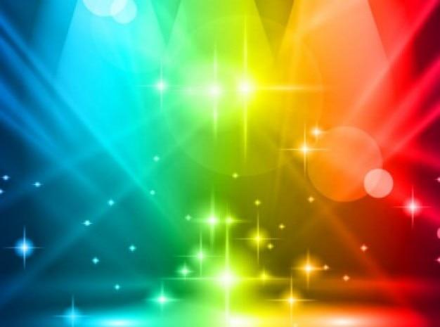 Veelkleurige lichten partij achtergrond Gratis Vector