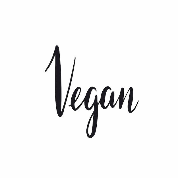 Veganist handgeschreven typografie stijl vector Gratis Vector