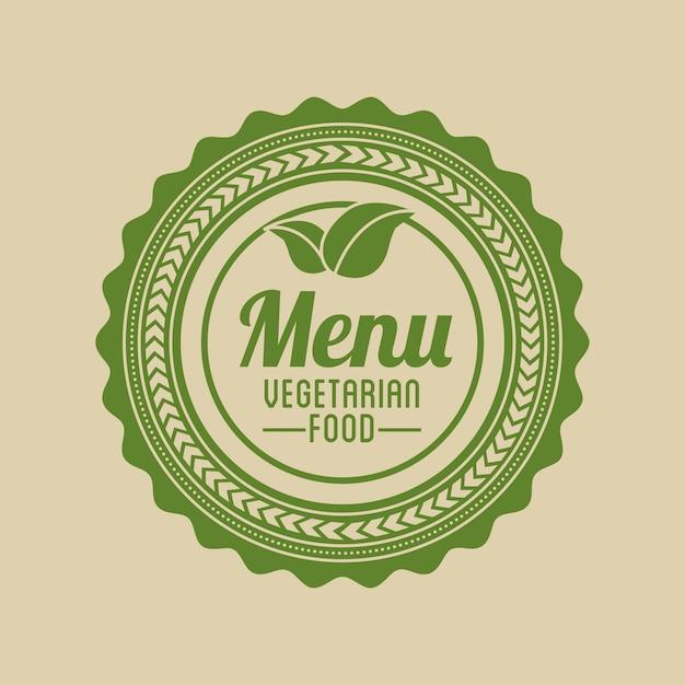 Vegetarisch eten menu Gratis Vector