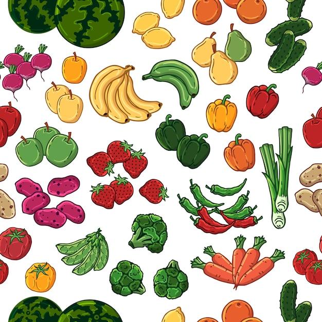Vegetarisch patroon Premium Vector