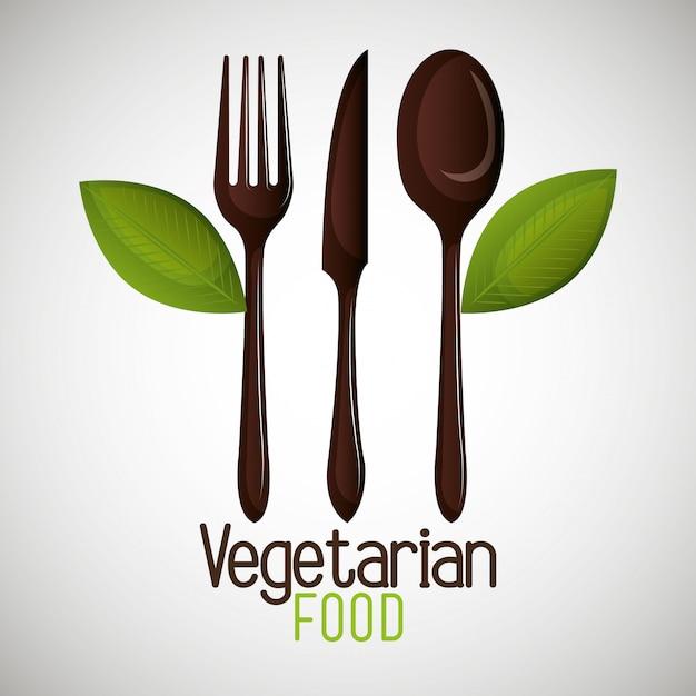 Vegetarisch voedselmenu Gratis Vector