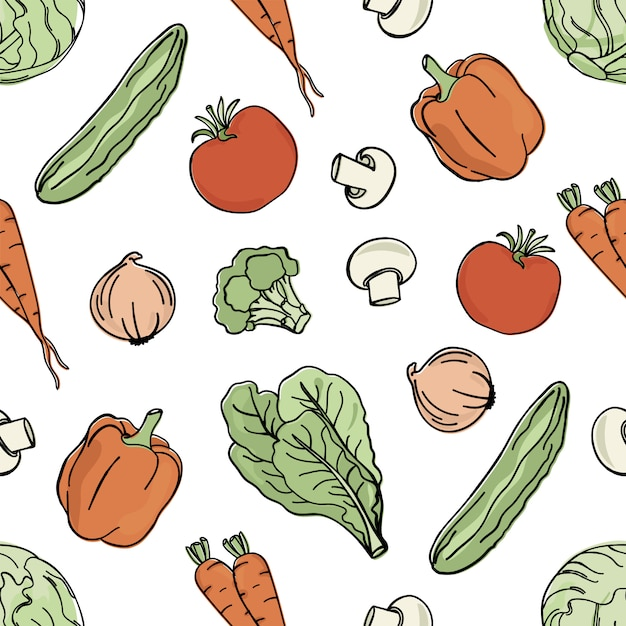 Vegetarische achtergrond paleo dieetvoeding Premium Vector